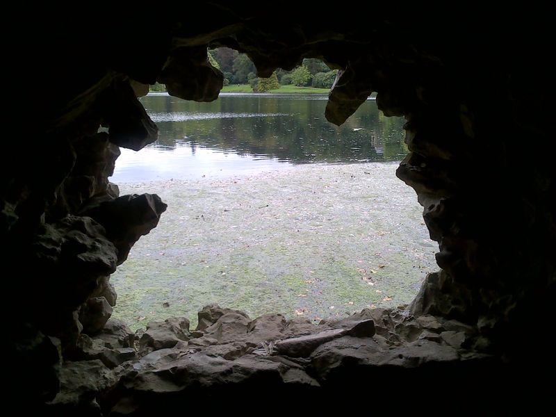 Stourhead cave view 0915